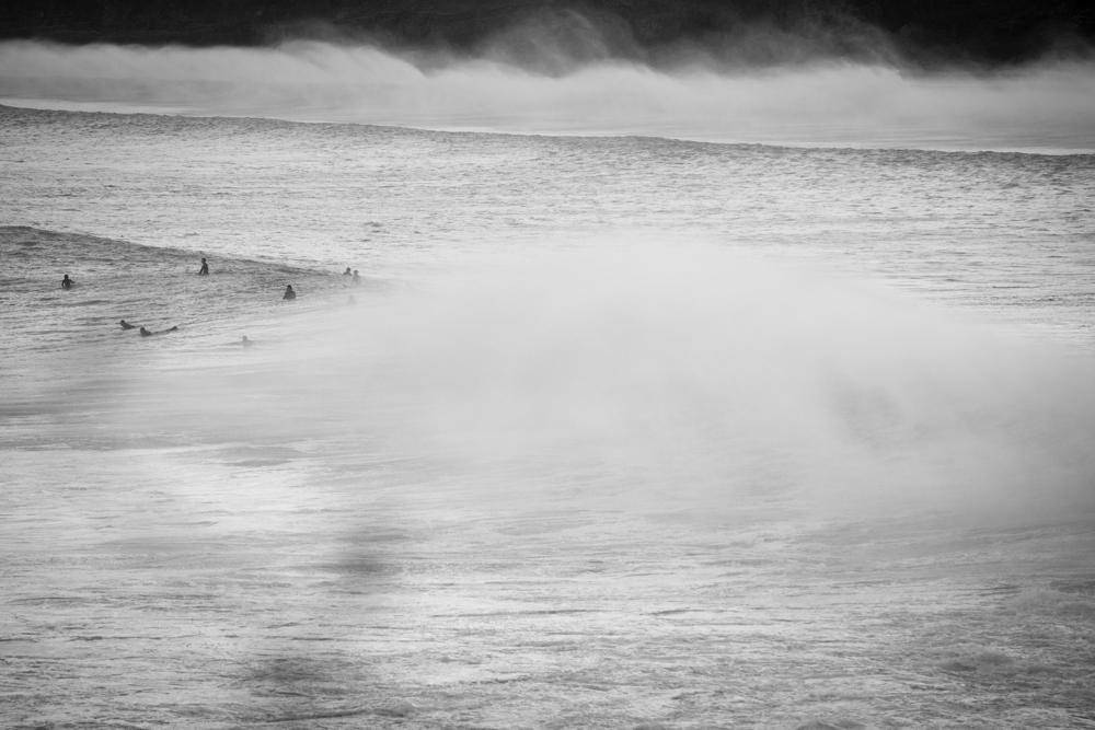 michele catena photography beach spain mundaka surf wave mist
