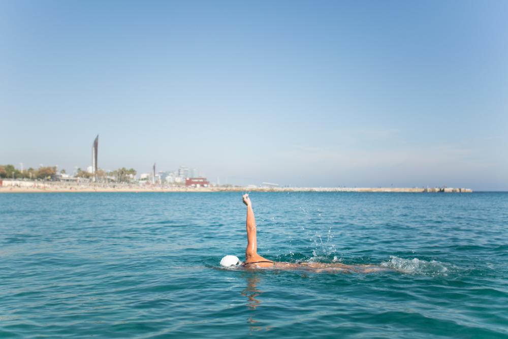 michele catena photography Playa Nova Icària Nadadora Nadador Barcelona